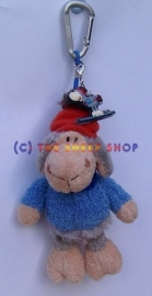 12cm Grey with pullover skier with hook