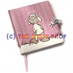 A5 Rosa Diary with lock